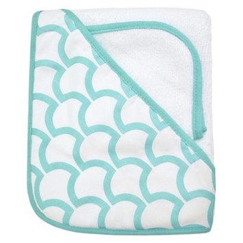 TL Care Organic Terry Hooded Towel Set - Aqua