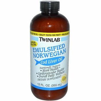 Twinlab Emulsified Norwegian Cod Liver Oil Lemon 12 fl oz