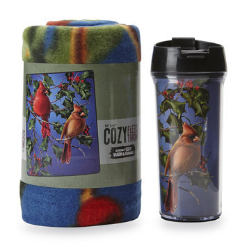 The Northwest Company Travel Mug & Fleece Throw - Cardinals
