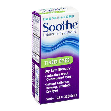 Bausch + Lomb Soothe Lubricant Eye Drops Tired Eyes