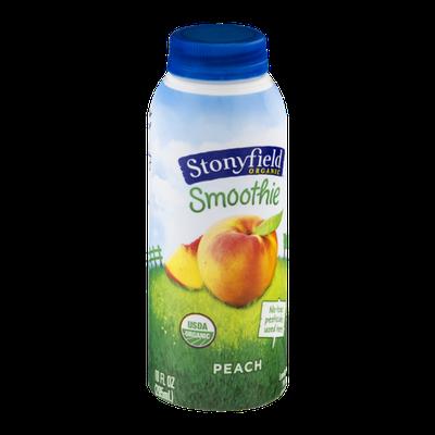 Stonyfield Organic Smoothie Lowfat Yogurt Peach