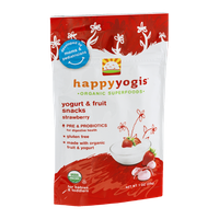 Happy Yogis Organic Yogurt & Fruit Snacks Strawberry