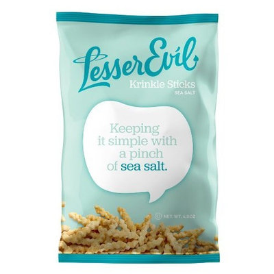 LesserEvil Krinkle Sticks, 4.5-Ounce Bags (Pack of 12)