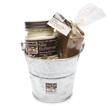 Joyful Bath Co Lil Soap & Salt Bucket Gift Set Renewing Vanilla