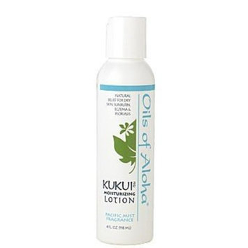 Kukui Moisturizing Lotion (Scented) w/Pacific Mist Fragrance by Oils of Aloha - 4oz.