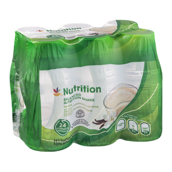 Ahold Nutrition Balanced Nutrition Shakes Vanilla - 6 PK
