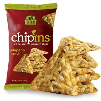 Popcorn Indiana Popcorn Chips Jalapeno Ranch Flavor, 7.25-Ounce Bags (Pack of 12)