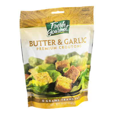 Fresh Gourmet Premium Croutons Butter & Garlic Flavor