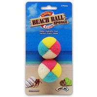 Superpet pets International Super Pet Little Crab Beach Ball Sponge, 2-Pack