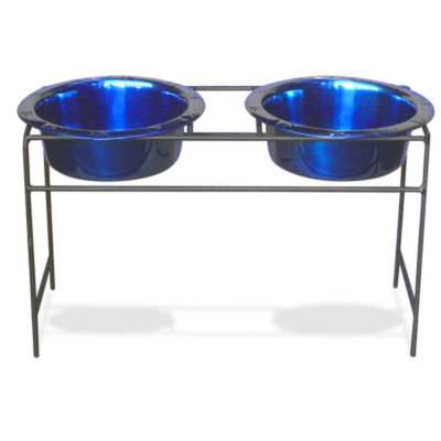 Platinum Pets Double Diner Dog Stand with Bowls