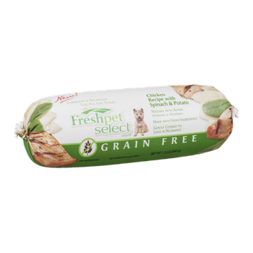 Freshpet Select Grain Free Dog Food Chicken Recipe with Spinach & Potato