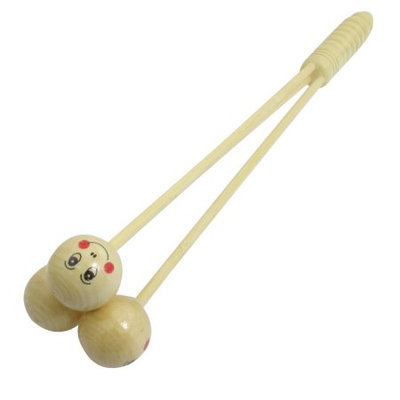 Wooden Massage Knocking Three Round Hammer Body Massager