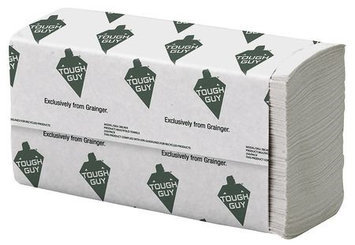 TOUGH GUY 38C404 Paper Towel, Multifold, White, PK16