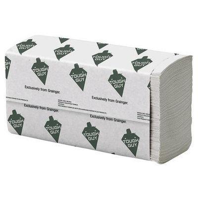 TOUGH GUY 38C404 Paper Towel, Multifold, White, PK16