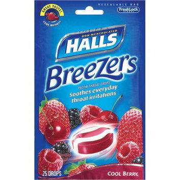 Halls Breezers: Cool Berry Non-Mentholated Pectin Throat Drops