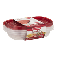 Rubbermaid Take Alongs Divided Rectangles - 3 CT