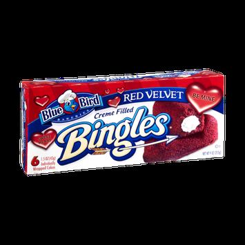 Blue Bird Bakeries Bingles Red Velvet Creme Filled Cakes - 6 CT