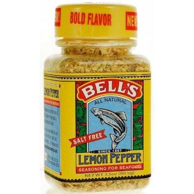 Bell's All Natural Salt Free Lemon Pepper Seasoning for Seafood 3.5 Oz (Pack of 6)