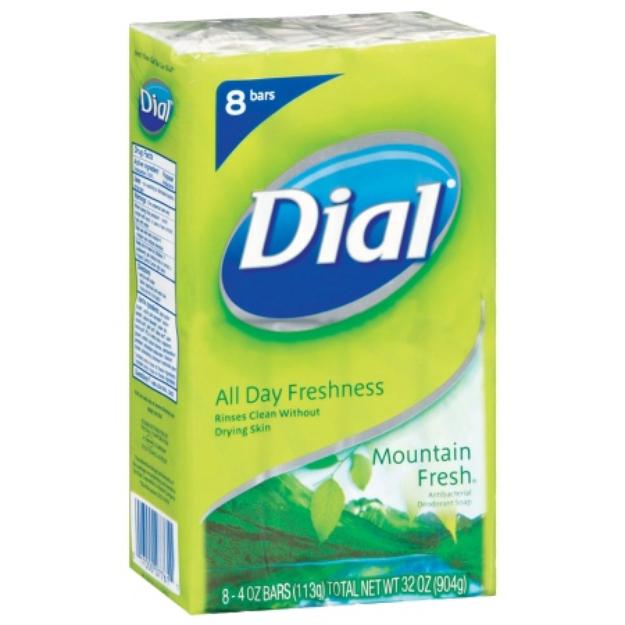 Dial® Antibacterial Deodorant Mountain Fresh Bar Soap