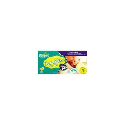 Pampers Dry Max 216 Ct Swaddlers Diaper Value Box - Size 1
