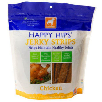 Dogswell Happy Hips Jerky Strips, Chicken, 12 OZ