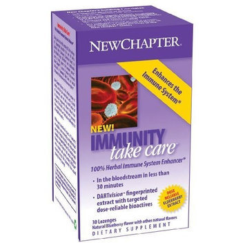 New Chapter Chapter Immunity Take Care Lozenges, 30-Count