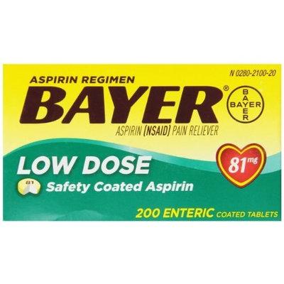 BAYER ENTERIC 81 MG TABS ADULT Bayer Aspirin Regimen Low Dose 81mg Enteric Coated Tablets 200 Count