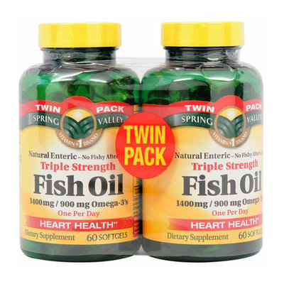 Spring Valley Triple Strength Fish Oil Dietary Supplement Softgels