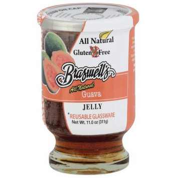 Braswell's All Natural Guava Jelly, 11.0 oz, (Pack of 6)