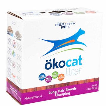 okocat Natural Wood Clumping Cat Litter for Long Hair Breeds