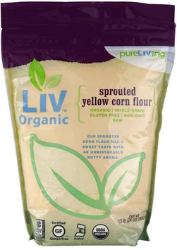 Pure Living Liv Organic Sprouted Yellow Corn Flour 24 oz