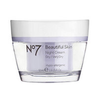 Boots No7 Beautiful Skin Night Cream, Dry / Very Dry, 1.6 fl oz