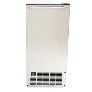 Whynter UIM-501SS Stainless Steel Ice Maker, Built-In or Freestanding, 50 lb Capacity, Clear Ice Cube