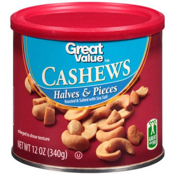 Great Value Cashews Halves & Pieces, 12 oz