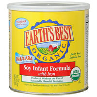 Earth's Best Organic Soy Infant Formula Powder