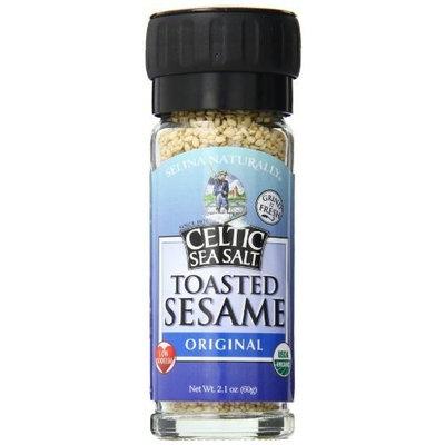 Celtic Sea Salt Organic Sesame Salt Grinder, Original, 2.1 Ounce