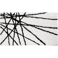 Interdesign InterDesign Abstract Bath Rug - Black/White (21x34