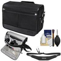 Nikon DSLR Camera/Tablet Messenger Shoulder Bag with Sling Strap + Kit for D3200, D3300, D5200, D5300, D7000, D7100, D610, D750, D810, Df, D4S