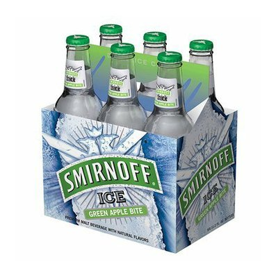 smirnoff ice 6pk green apple bite malt beverage 12oz