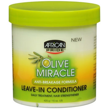 African Pride Olive Miracle Leave in Conditioner, 15 oz