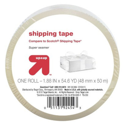up & up NONE Packing Tape 1.88In X 54.6Yd