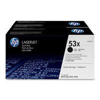 Hewlett Packard HP Laserjet 53X Black Toner Cartridge Twin Pack