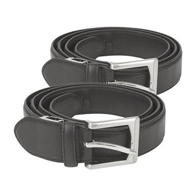 Travelon One Size Fits All Leather Money Belt Black (2-Pack) One Size Fits All Leather Money Belt