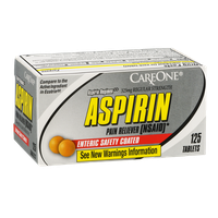 CareOne Aspirin Tablets - 125 CT