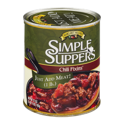 Margaret Holmes Simple Suppers Chili Fixins'