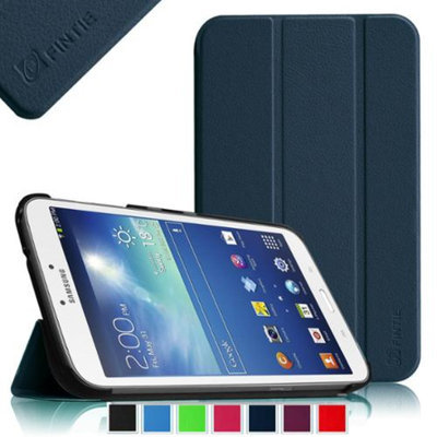 Fintie Samsung Galaxy Tab 3 8.0 Case - Ultra Slim Lightweight Stand Smart Shell Cover, Navy