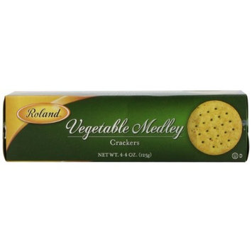Roland Vegetable Medley Crackers, 4.4-Ounce (Pack of 12)