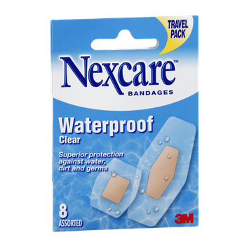 Nexcare Waterproof Clear Assorted Bandages - 8 CT
