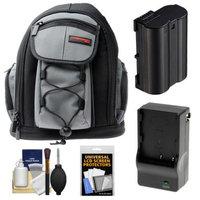 Precision Design PD-MBP ILC Digital Camera Mini Sling Backpack with EN-EL15 Battery & Charger + Accessory Kit for Nikon 1 V1 Camera