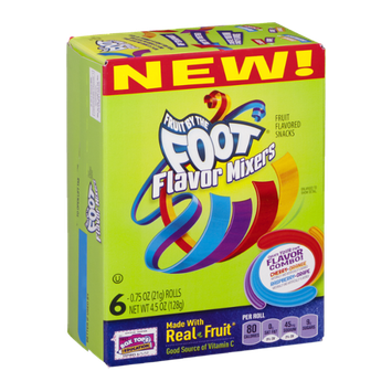 Fruit By The Foot Flavor Mixers Fruit Flavored Snacks - 6 CT